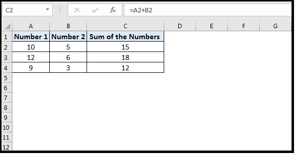 The  need to drag formulas in excel